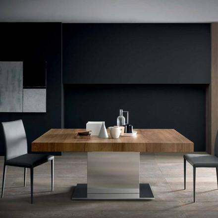 Moderní výsuvný stůl do 480 cm ve dřevě vyrobený v Itálii - Michael