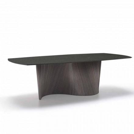 Moderní stůl s mramorovým efektem z kameniny vyrobený v Itálii, Adrano