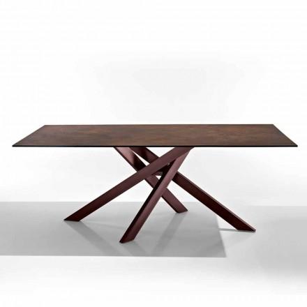 Moderní stůl ve sklokeramické varné desce a kov vyrobený v Itálii, Dionigi