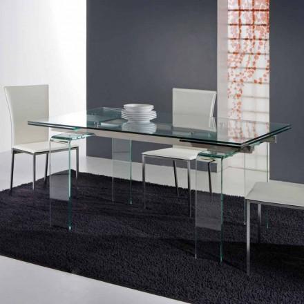Moderní stolek vyroben výhradně z tvrzeného skla Atlanta