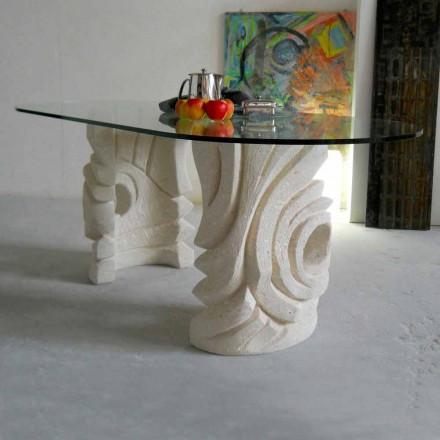 oválný kamenný stůl s moderním designem křišťálových Furies