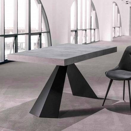 Jídelní stůl s výsuvnou deskou až 290 cm ve dřevě - Doriano