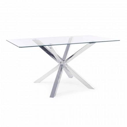 Jídelní stůl Homemotion s deskou z tvrzeného skla - Denda