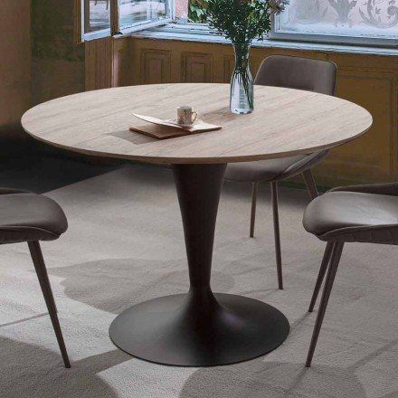 Jídelní stůl s výsuvnou kulatou deskou až 170 cm - Moreno