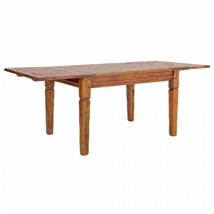 Klasický výsuvný stůl do 290 cm v masivním dřevěném provedení - Carbo