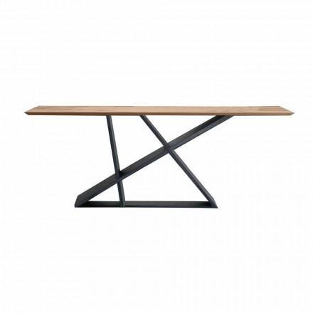 Roztažitelný jídelní stůl až do 294 cm ve dřevě, vyrobený v Itálii Kvalita - Cirio