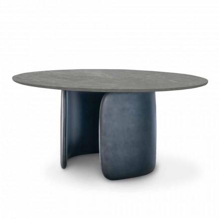 Keramický jídelní stůl s polyuretanovým podstavcem vyrobený v Itálii - Mellow Bonaldo