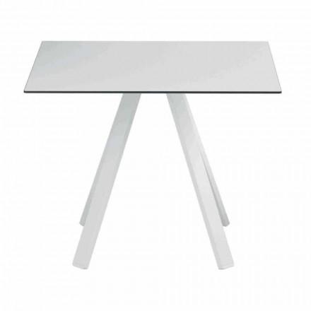 Čtvercový venkovní stůl z kovu a HPL vyrobený v Itálii - Deandre