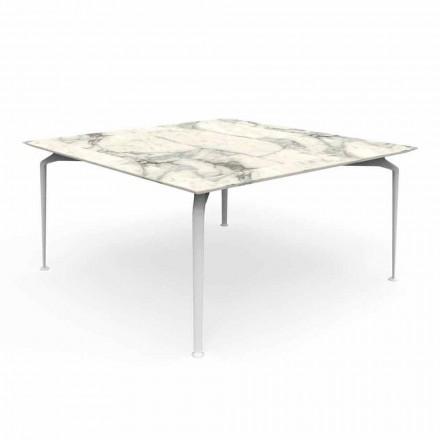 Čtvercový stůl pro venkovní moderní design Gres a hliník - Cruise Alu Talenti