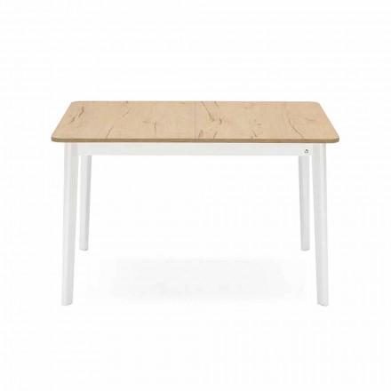 Obdélníkový výsuvný stůl do 170 cm ve dřevě Vyrobeno v Itálii - večeřet
