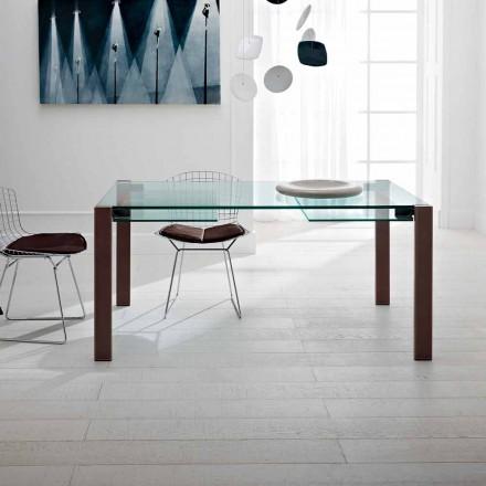Rozkládací stůl až do 280 cm v průhledném skle Vyrobeno v Itálii - Sopot