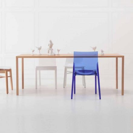 Moderní designový obdélníkový jídelní stůl z přírodního dubového dřeva - chytrý