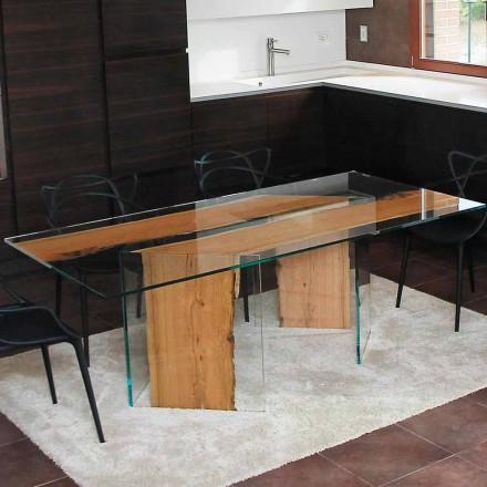 Obdélníkový stůl v delfína dřevěné a skla v Benátkách San Marco