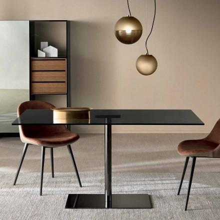 Moderní obdélníkový stůl v kouřovém nebo extrémním světle vyrobeném v Itálii - Dolce