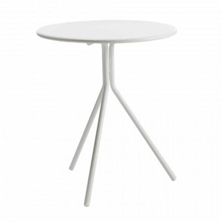 Kulatý venkovní stůl v moderním lakovaném kovu vyrobený v Itálii - Gobi