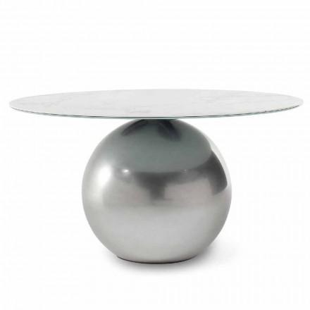 Kulatý keramický stůl s kovovou základnou vyrobený v Itálii - Bonaldo Circus