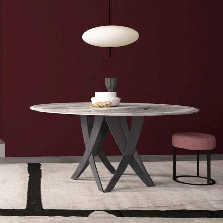 Kulatý stůl v průměru císařského šedého mramoru 140 cm, vyrobené v Itálii - Montereale