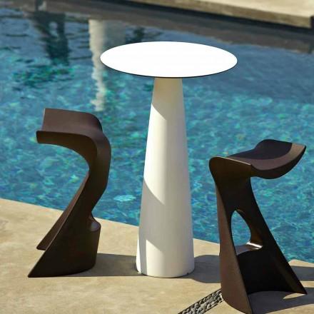 Kulatý zahradní stůl z polyetylenu a hlp Slide Hoplà (H110)