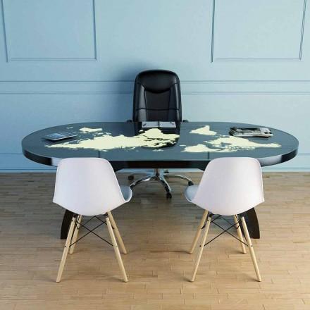 Moderní stolek se skleněnou deskou vyrobený v Itálii, Pontida