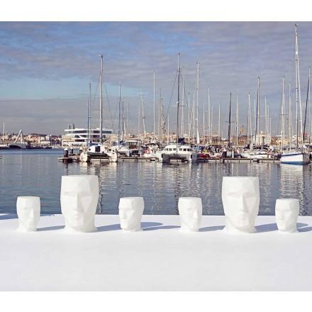 Moderní venkovní tvarovaný stůl Adan by Vondom, z polyethylenu