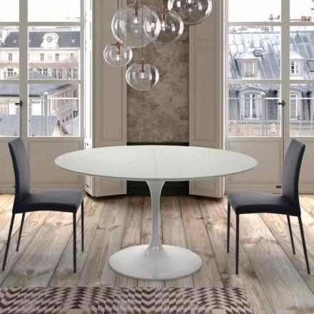 Rozkládací kulatý stůl do 170 cm v laminovaném provedení v Itálii - dolary