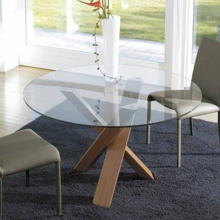Kruhový deskový stůl d.150 vyrobený v Itálii Cristal
