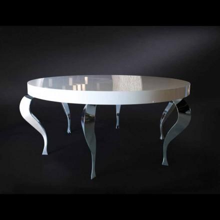 Kulatý stůl v moderním stylu MDF a Luigi ocel