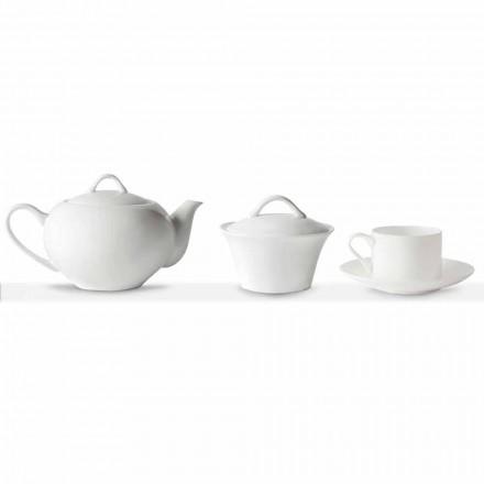 Stohovatelné čajové šálky snídaňová služba 14 kusů v porcelánu - Romilda