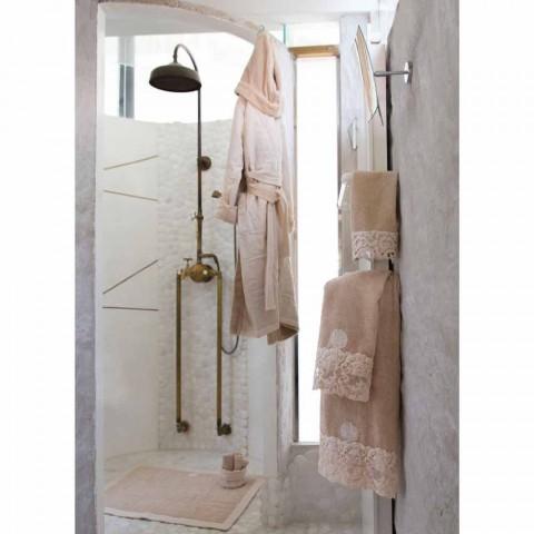 Bavlněná froté osuška s italskou luxusní střapcovou krajkou - Arafico