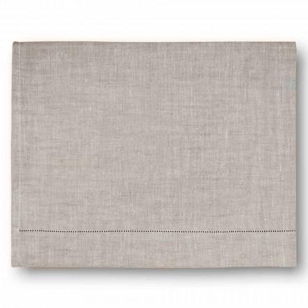 Moderní osuška v krémové bílé nebo přírodní prádlo vyrobené v Itálii - Chiana