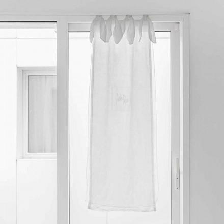 Závěs s plátěnou gázou a bílou organzou elegantního designu - tapioka