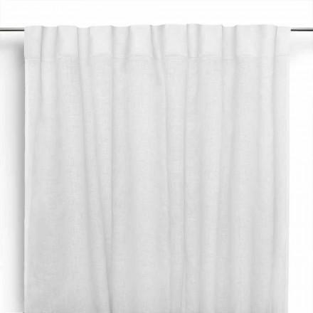 Záclona ve smetaně bílé čisté prádlo s knoflíky vyrobené v Itálii - Blessy