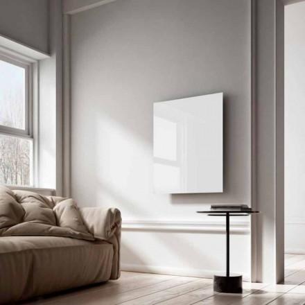 Elektrické radiátory infračervené paprsky design v bílé sklo Clear