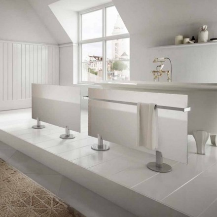 Elektrické radiátory z moderního designu podlahy Star bílého skla