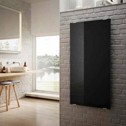 Elektrické radiátory v moderním designu hvězda černé sklo vyrobené v Itálii