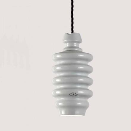 TOSCOT Battersea lampa keramické bílé suspenze