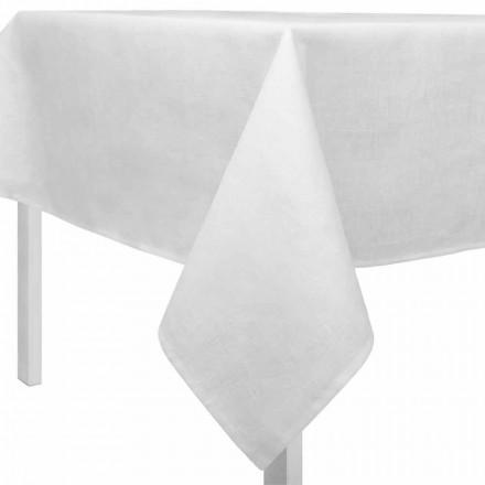 Obdélníkový nebo čtvercový krémový bílý ubrus vyrobený v Itálii - Blessy