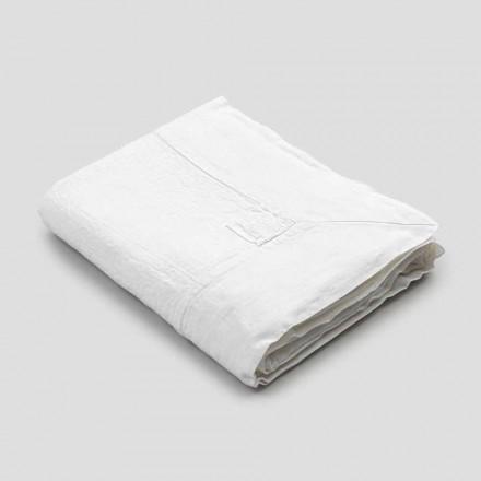 Obdélníkový lněný ubrus s krajkou nebo bílou krajkou, luxusní design - Davinci