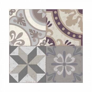 Americký prostírání v PVC a omyvatelném moderním polyesteru, 6 kusů - Malia