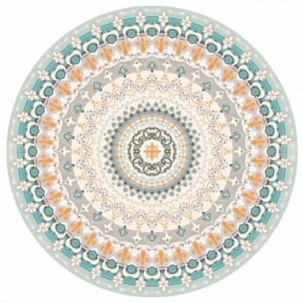 Americký placemat s kulatým designem z PVC a polyesteru, 6 kusů - Rondeo