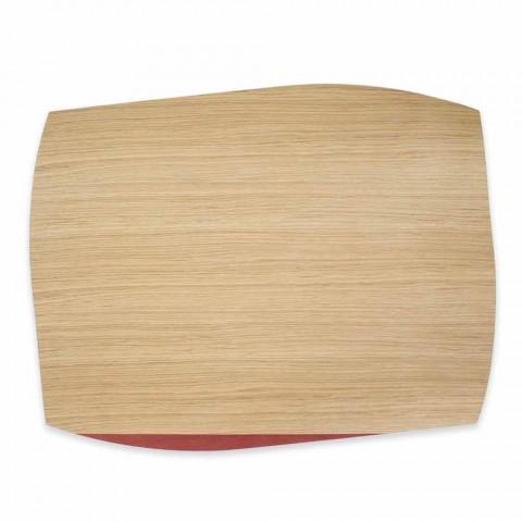 Moderní obdélníkový prostírání v dubovém dřevě Vyrobeno v Itálii - Abraham