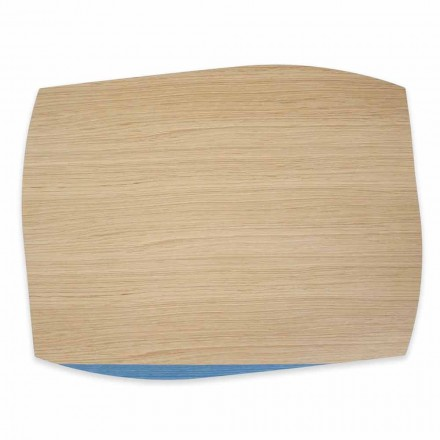 4 moderní obdélníkové prostírání v dubovém dřevě Vyrobeno v Itálii - Abraham