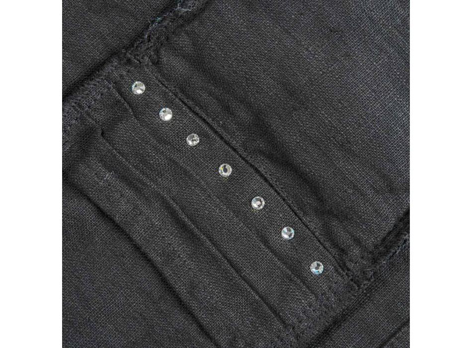 Americké podnosy a podnosy s krystaly v černém plátně, 4 kusy - Nabuko