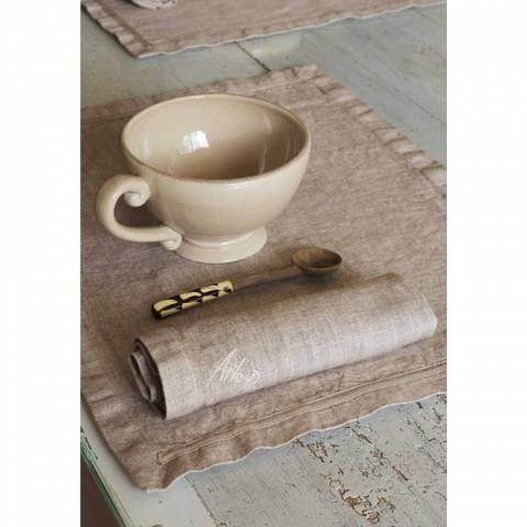 Americké prostírání a plátěné snídaňové ubrousky 2 kusy - Maccanone