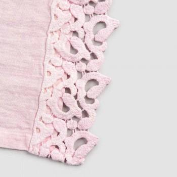 Americké prostírání v plátně s krajkou Poema, 3 barvy, 2 kusy - Leonardino