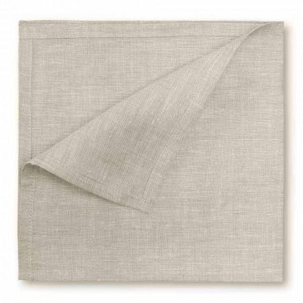Přírodní nebo krémový bílý plátěný ubrousek vyrobený v Itálii, 2 kusy - Blessy
