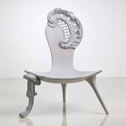 Throne ručně vyřezávané dubové šedý design, Leon