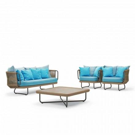 Varaschin Babylon zahradní salonek, pohovka, 2 křesla a 1 konferenční stolek