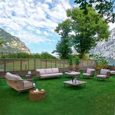 Moderní zahradní salonek Varaschin Babylon z hliníku a lana