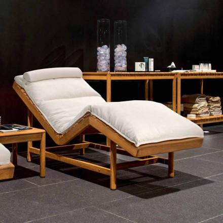 Varaschin Barcode současná zahradní postel / vnitřní teak